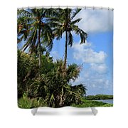 Oh What A Beautful Morning Shower Curtain by Kim Hojnacki