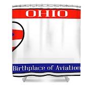 Ohio License Plate Shower Curtain