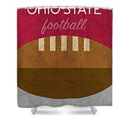 Ohio State Football Minimalist Retro Sports Poster Series 003 Shower Curtain