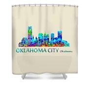 Oklahoma City Watercolor Shower Curtain