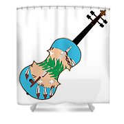 Oklahoma State Fiddle Shower Curtain