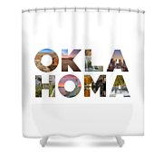 Oklahoma Typography II Shower Curtain