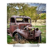 Old Abandoned Chevy Truck Shower Curtain