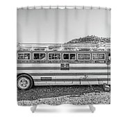 Old Abandoned Vintage Bus Jerome Arizona Shower Curtain