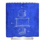 Old Ant Trap Vintage Patent Blueprint Shower Curtain