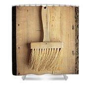 Old Bristle Brush Shower Curtain