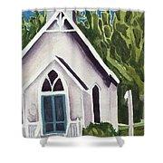 Old Church Copake Falls Shower Curtain