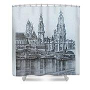 Old City Of Dresden- Dresden Shower Curtain