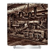 Old Climax Engine No 4 Shower Curtain
