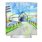 Old Covered Bridge - Avonport N.s. Shower Curtain