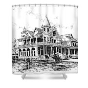 Old Daly Mansion Hamilton Montana Shower Curtain
