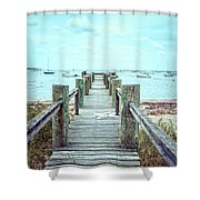 Old Dock Hyannis Port Cape Cod Ma Shower Curtain