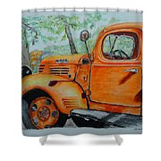 Old Dodge Truck At Patterson Farms Shower Curtain