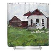 Old Farm Buildings Shower Curtain