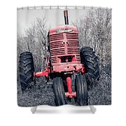 Old Farmall Farm Tractor Color Separation Nh Shower Curtain