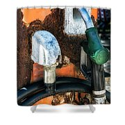 Old Gas Pump Shower Curtain