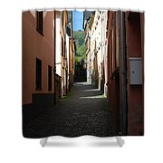 old historic lane in Cochem Germany Shower Curtain