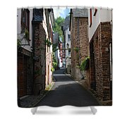 old historic street in Ediger Germany Shower Curtain