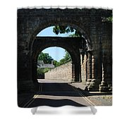 old historic town gate in Hexham Shower Curtain
