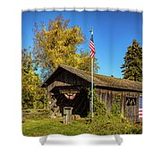 Old Hollow Covered Bridge Shower Curtain