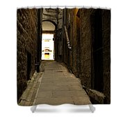 old medieval close in Edinburgh Shower Curtain
