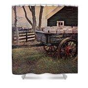 Old Milk Wagon Shower Curtain