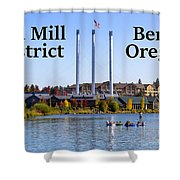 Old Mill District Bend Oregon Shower Curtain