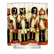 Old Nutcracker Brigade Shower Curtain