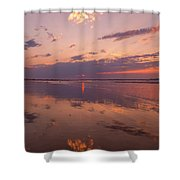 Old Orchard Beach Glorious Sunset Shower Curtain