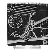 Old Postage Insignia Shower Curtain