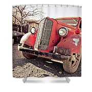 Old Red Truck Jerome Arizona Shower Curtain