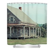 Old Stone Farm House Newbury Vermont Shower Curtain