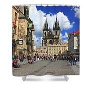 Old Town Square Prague Czech Republic  Shower Curtain