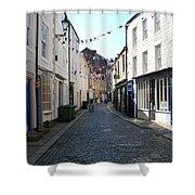old town street in Hexham Shower Curtain