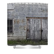Old Trackside Warehouse Shower Curtain