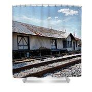 Old Train Depot In Gray, Georgia 2 Shower Curtain