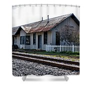 Old Train Depot In Gray, Georgia 1 Shower Curtain