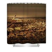 Olympic Stadium Shower Curtain by Juan Contreras