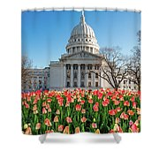 On A Bed Of Tulips Shower Curtain