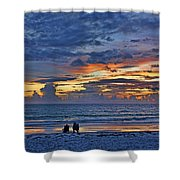 On A Quiet Beach With You Shower Curtain