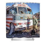On Location Photographer Edward Fielding In Jerome Arizona Shower Curtain