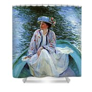 On The River Edge 1910 Shower Curtain