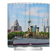 On The Waterfront - The Monitor - Philadelphia Shower Curtain