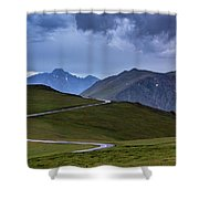 On Top Of The World Shower Curtain by John De Bord