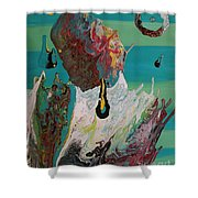 Once Upon A Planet Shower Curtain