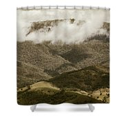 Oncoming Rains Shower Curtain