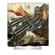 One Bullet, One Kill Shower Curtain