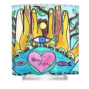 One Love One Earth Shower Curtain