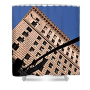One Way Golden Architecture  Shower Curtain