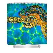 Opal Sea Turtle Shower Curtain
